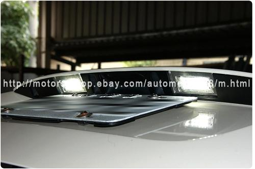 bmw led licence plate lamp